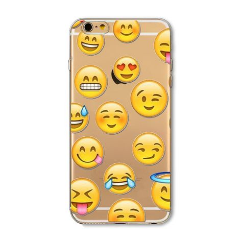 Funny Phone Case For Apple iPhone 7 6 5 SE 4 Cover Transparent Silicon Monkey Emoji Mobile Phone Bag