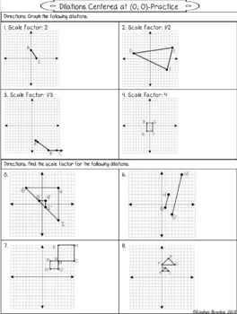 Dilations Guided Notes And Worksheet In 2020 Geometry Notes