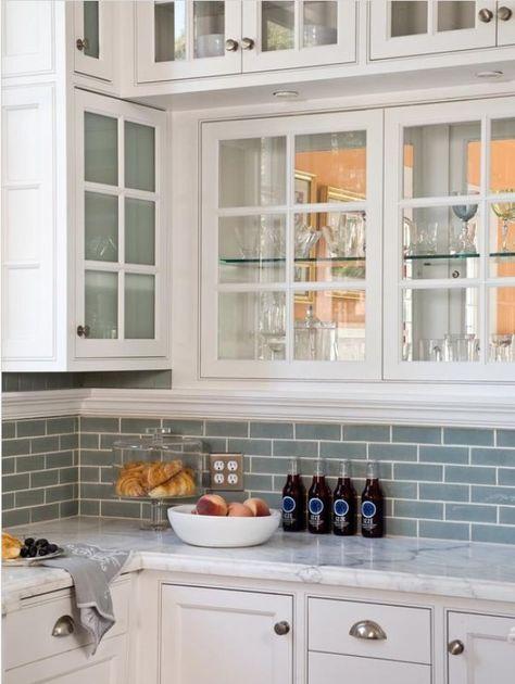 Warming Up A White Kitchen Backsplash For White Cabinets
