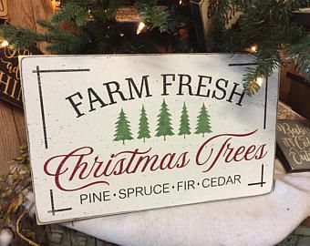 Tree Sign Etsy Christmas Wooden Signs Christmas Tree Farm
