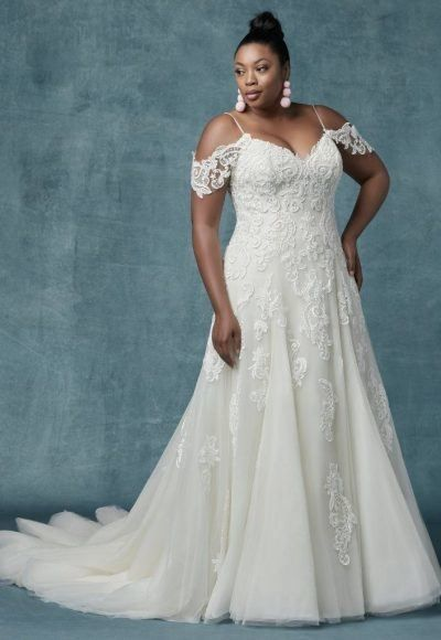 Berta Beauty From Our Nyc Trunk Show At L Fay Bridal Sequin Lace Wedding Dress Wedding Dresses Lace Luxury Wedding Dress