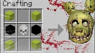 How To Summon Springtrap On A Crafting Table Minecraft Fnaf