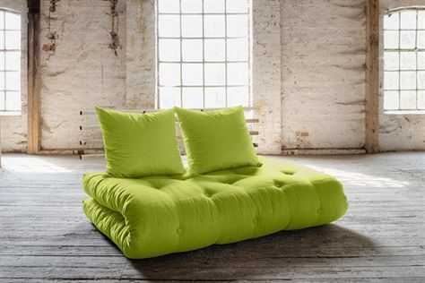 Slaapbank Design Outlet.Sofa Lit Shin Sano 2 Positions Vert Anis Et Naturel Slaapbank
