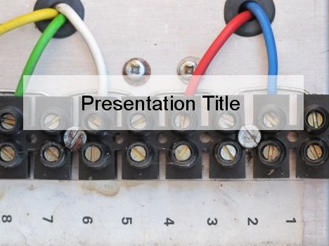 Free Electrical Wiring Lessons Powerpoint Template Powerpoint Templates Powerpoint Electricity