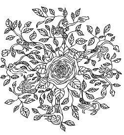 Rose Elf Mandala Mandalas Zum Ausmalen Mandala Ausmalen Ausmalen
