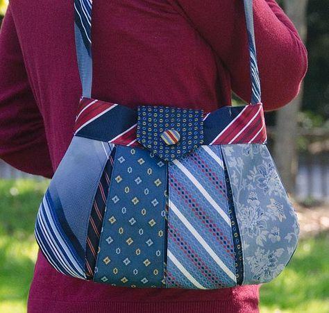 Caitlyn: neckties- mens men's gentlemens gentlemen's neckties ties neck-ties refashion upcycle recycle clothing clothes