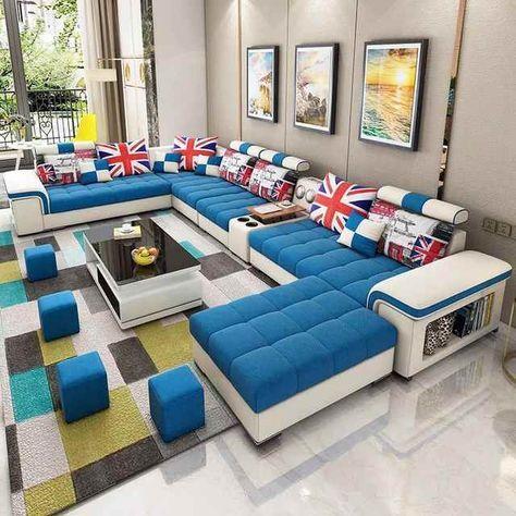 Source Bellagio U Shape Large Fabric Couch Modern Corner Sofa Living Room U Shaped Colour Selection Cheap Sofa Sets Living Room Sofa Corner Sofa Living Room U shaped living room furniture