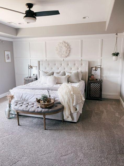 Bedroom Wall Designs, Room Ideas Bedroom, Master Bedroom Design, Home Decor Bedroom, Master Bedroom Makeover, Feature Wall Bedroom, Accent Wall Bedroom, Bedrooms With Accent Walls, Bedroom Accent Walls