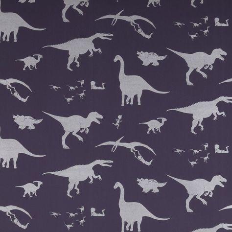 PaperBoy Wallpaper 'D'ya-Think-E-Saurus' - Purple