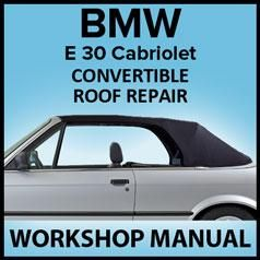 Bmw E30 Electric Hydraulic Convertible Top Repair Manual Convertible Top Repair Bmw Convertible Top