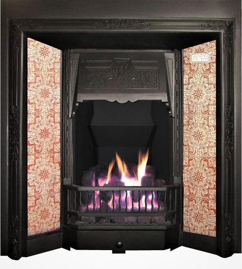 Edwardian Antique Cast Iron Insert For Tiles Cast Iron Fireplace Tiles Price Edwardian Fireplace