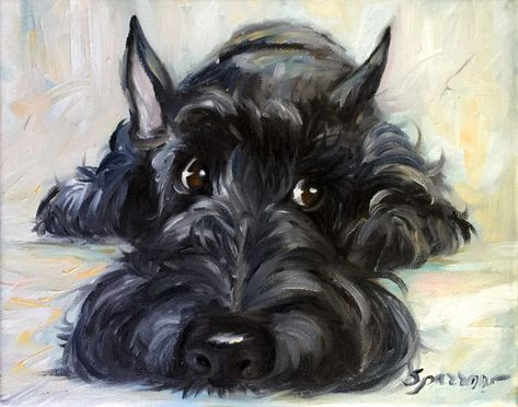 CANVAS PRINT Scottish Terrier Scottie Dog by HangingtheMoonShelby