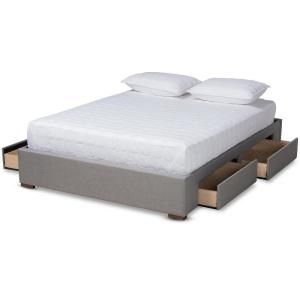 Prepac Select White Queen 4 Post Platform Bed Bed Frame With