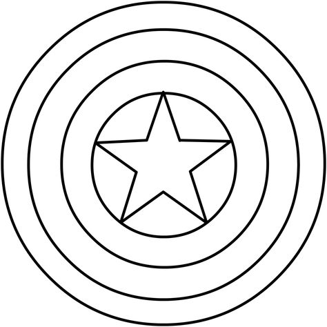 Dibujo Del Escudo De Capitan America Para Colorear Escudo Capitan America Capitan America Para Dibujar Simbolos De Superheroes