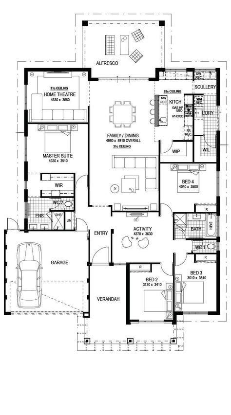 Nice Floor Plan My House Plans New House Plans Dream House Plans