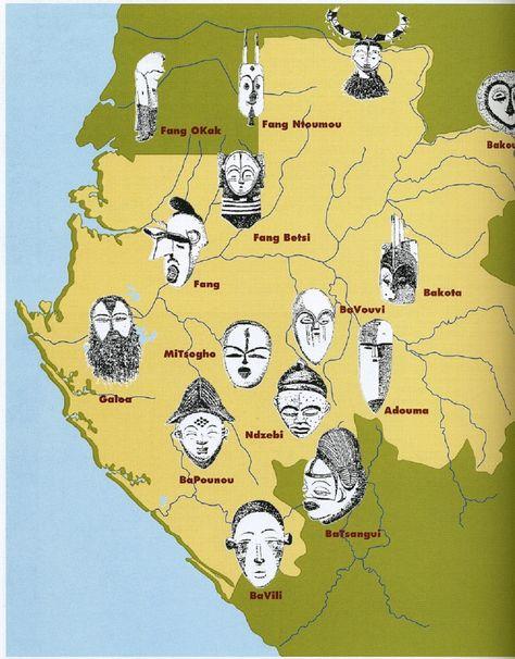 LOCALISATION DES MASQUES GABONAIS SELON PERROIS