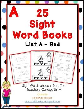 photo about Sight Word Books Printable named 25 Sight Term Emergent Website visitors - Record A - Pink Sight terms