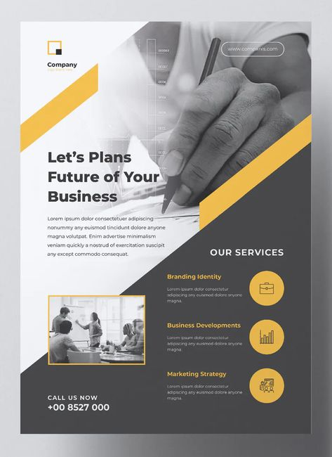 Professional Corporate Business Flyer Template Word