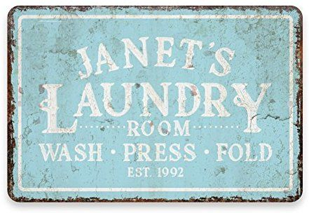 Amazon Com Personalized Vintage Distressed Look Mint Laundry Wash