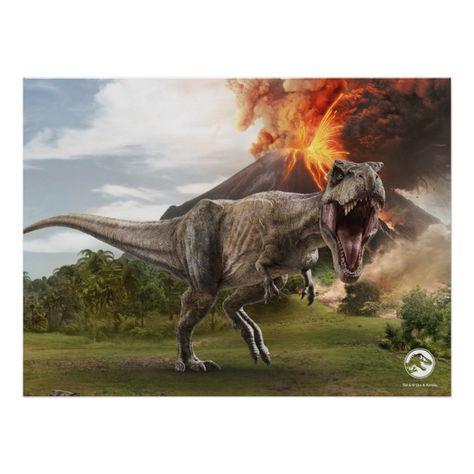 DINOSAURS POSTER ~ WALKING WITH 3D MOVIE 24x36 TV BBC Tyrannosaurus Rex Dinosaur