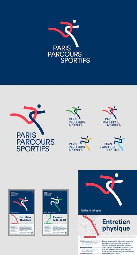 Paris Sports Courses: Visual Identity Design by Graphéine