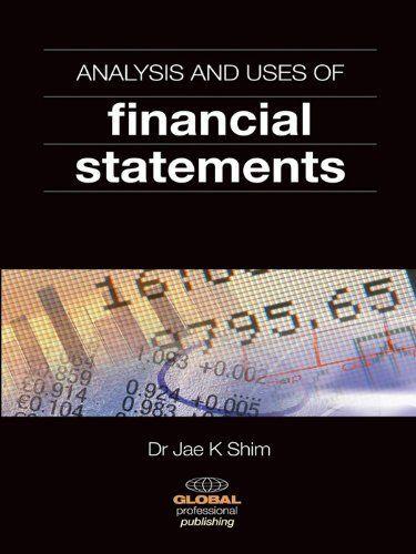 International Financial Statement Analysis (CFA Institute - statement analysis