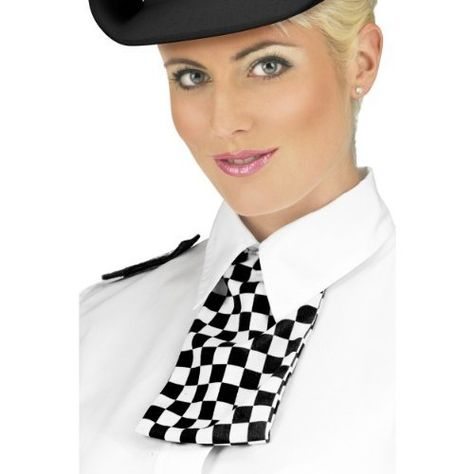 ADULT BLACK WPC POLICE WOMAN HAT FANCY DRESS BRITISH OFFICER ADD ACCESSORIES