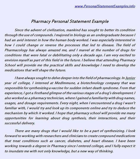 pharmacy school essay