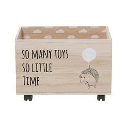 Kaytlynn Toy Box With Wheels Wooden Toy Boxes Wood Storage Box Storage Box On Wheels