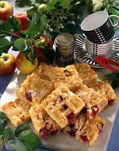 Apfel Kirsch Blechkuchen Mit Schattenmorellen Rezept Lecker Rezepte Blechkuchen