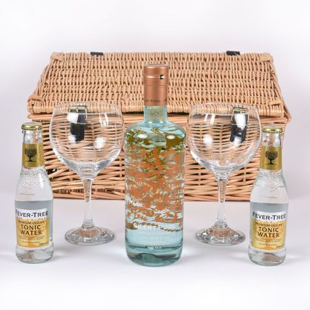 Silent Pool Gin Tonic Gift Set Hamper With 2 Glasses In 2020