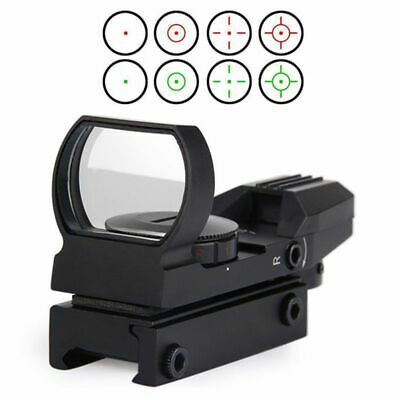 Red Dot Sight Reflex Holographic Scope Tactical MOA Rifle Mount 20mm Rails Black