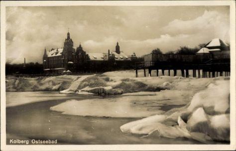 Kolberg im Eis