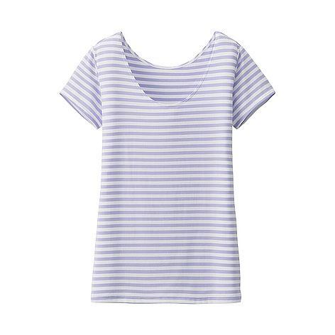 c93fe544cb5e WOMEN AIRism Scoop Neck Short Sleeve T-Shirt
