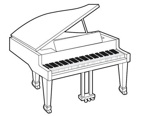 Dibujos De Un Piano Para Colorear Con Los Ninos Imagenes De Pianos Imagenes De Instrumentos Musicales Notas Musicales Para Colorear