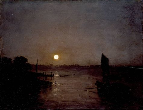 Joseph Mallord William Turner, 'Moonlight, a Study at Millbank' exhibited 1797 Tate Britain