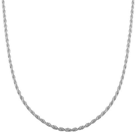 Sterling Silver Rope Chain Anklet 10 length