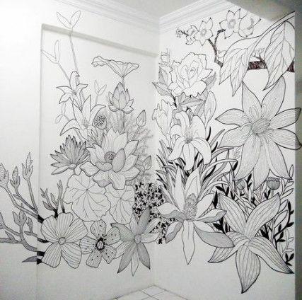27 Trendy Painting Walls Flowers Murals Painting Flowers
