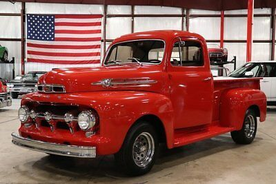 1952 Ford F1 67674 Miles Fire Truck Red Pickup Truck 239ci V8 3