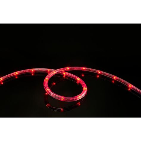 16 Ft Red All Occasion Indoor Outdoor Led Rope Light 360a Directional Shine Decoration Led Rope Lights Led Rope Rope Light