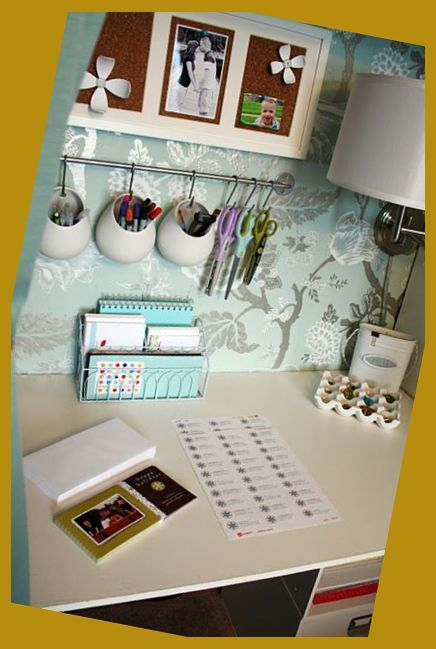 Office Desk Organization 101 Quick Tips For Avoiding Office Desk Clutter Home Office Ideas In 2020 Cubicle Decor Office Organizing Small Office Space Small Office Decor