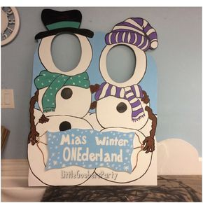 Gingerbread Wooden Photo Booth Prop Face In Hole Photo Op