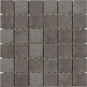 Concrete 2x2 Small Square Mosaic Dark Gray Interceramic Usa