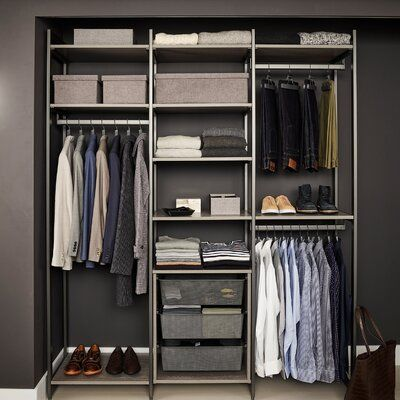 Martha Stewart California Closets The Everyday System 85 W Closet System Walk In Sets In 2021 Painted Closet Storage Solutions Closet California Closets