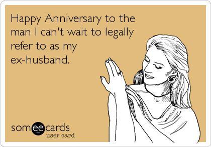 happy divorce anniversary cards