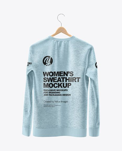Heather Sweatshirt On Hanger Mockup Back View In Apparel Mockups On Yellow Images Object Mockups Clothing Mockup Sweatshirts Design Mockup Free