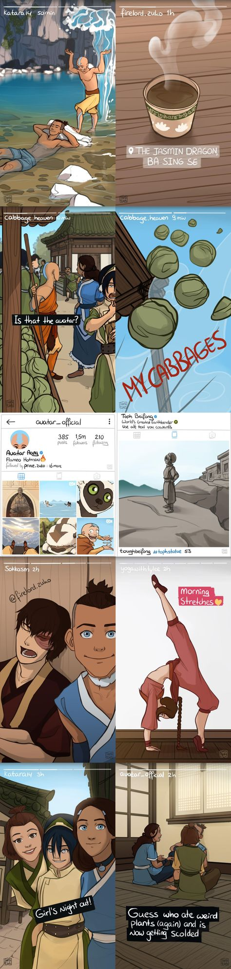 The Gaang's social media! One of my favourite pictures Avatar Aang, Avatar Airbender, Avatar The Last Airbender Funny, Avatar Legend Of Aang, The Last Avatar, Avatar Funny, Team Avatar, Legend Of Korra, Fan Art Avatar