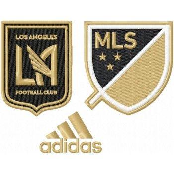 Los Angeles Football Club Logo Machine Embroidery Design For Instant Download Desain Logo Desain