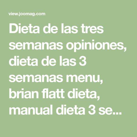 Dieta de las 3 semanas pdf