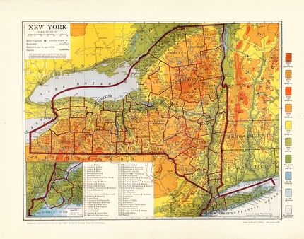 Image result for topographical map of new york state in 2019 ...